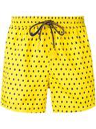 Entre Amis Polka Dot Swim Shorts - Yellow