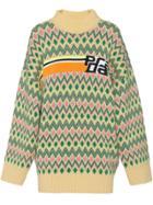 Prada Jacquard Sweater - Neutrals