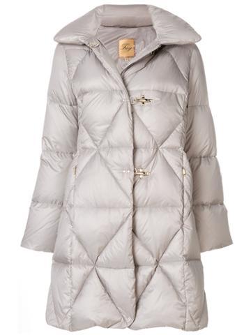 Fay Puffer Coat - Grey