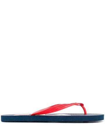 Fila Logo Flip Flops - Blue