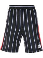 Msgm Striped Shorts - Black