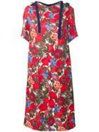Marni Patterned Dress - Red
