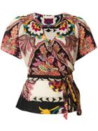 Antonio Marras Printed Draped Blouse - Multicolour