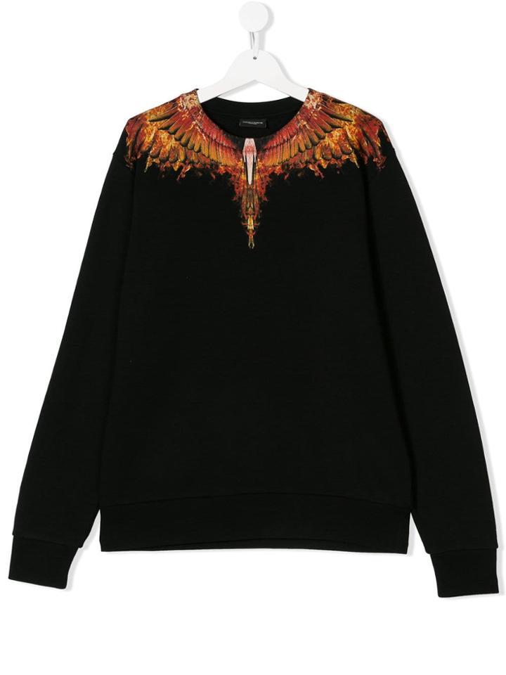 Marcelo Burlon County Of Milan Kids Teen Wings Sweatshirt - Black