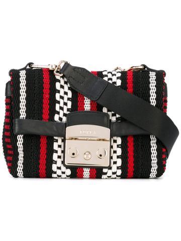 Furla - Woven Crossbody Bag - Women - Cotton/leather - One Size, Black, Cotton/leather
