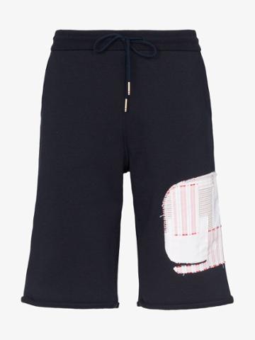 Thom Browne Whale Track Shorts - Blue