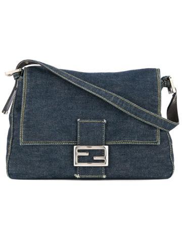 Fendi Vintage Mamma Baguette Hand Bag - Blue