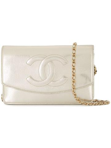 Chanel Pre-owned Cc Chain Wallet - Metallic