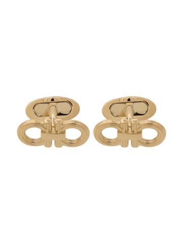 Salvatore Ferragamo Double Gancini Cufflinks - Gold