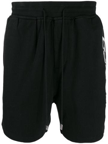 Stampd Logo-print Jogging Shorts - Black