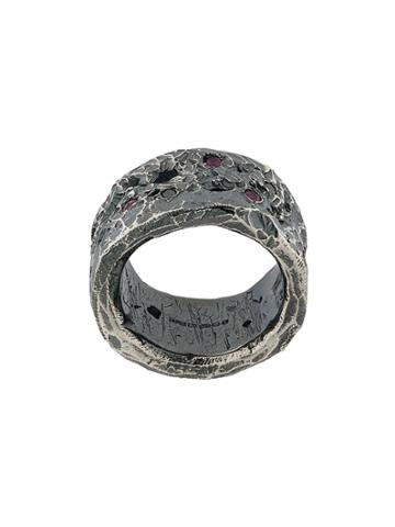 Chin Teo Diamond & Ruby Splendour Ring - Metallic