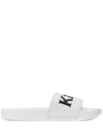 Kappa Logo Pool Slides - White