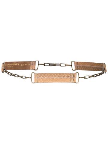 Carolina Herrera Snake Chain Belt - Neutrals