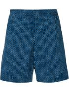 Alexander Mcqueen Skull-print Swim Shorts - Blue