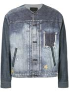 08sircus Distressed Denim Jacket - Blue