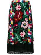 Valentino Floral Print Skirt - Multicolour