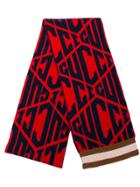 Gucci Logo Printed Scarf - Red