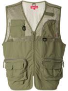 Supreme Mesh Cargo Vest - Green