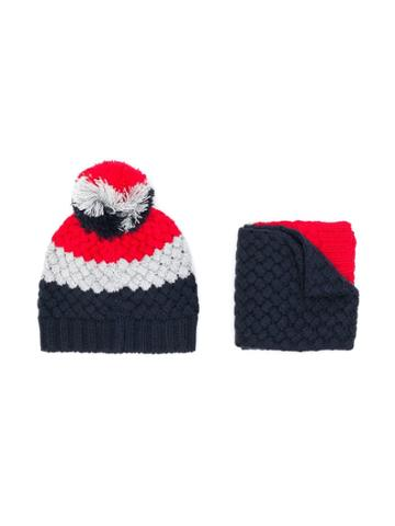 Emporio Armani Kids Scarf & Hat Set - Blue