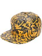 Bally Graffiti-print Cap - Yellow & Orange
