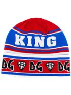 Dolce & Gabbana Graphic And Logo Beanie Hat - Red