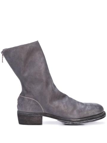 Guidi Zipped Boots - Grey