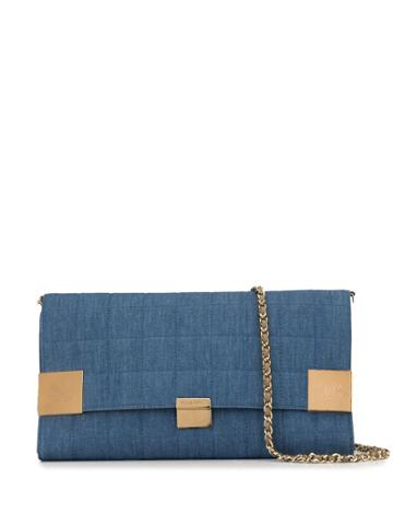Chanel Pre-owned Choco Bar Tri-fold Woc - Blue