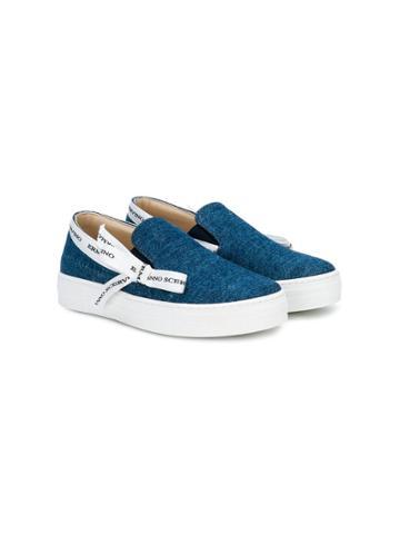 Ermanno Scervino Junior Denim Ribbon Sneakers - Blue