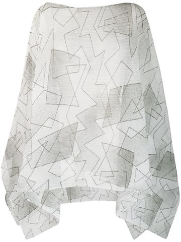 Pleats Please By Issey Miyake Printed Plissé Scarf - White