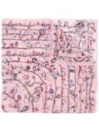 Alexander Mcqueen Charm Chain Print Scarf, Women's, Pink, Silk