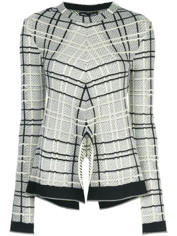 Proenza Schouler Plaid Tneck-drapey Plaid - Black