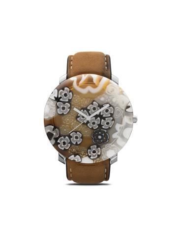 Yunik Big Round Klimt 44mm - Brown/white