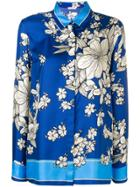 P.a.r.o.s.h. Floral Print Shirt - Blue