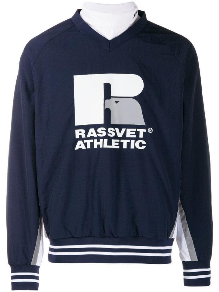 Rassvet X Russel Athletic Printed Sweatshirt - Blue