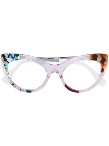 Fendi - 'ff 0157' Glasses - Women - Acetate/metal - 51, White, Acetate/metal