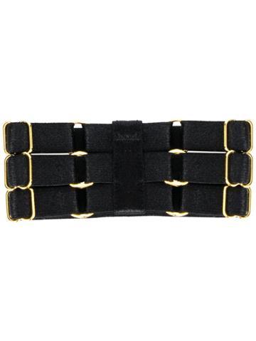 Bordelle Renee Multi Buckle Strap Cuff - Black