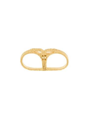Mies Nobis 'heija' Double Ring, Women's, Size: 5, Metallic