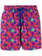 Vilebrequin Floral Print Swim Shorts - Orange