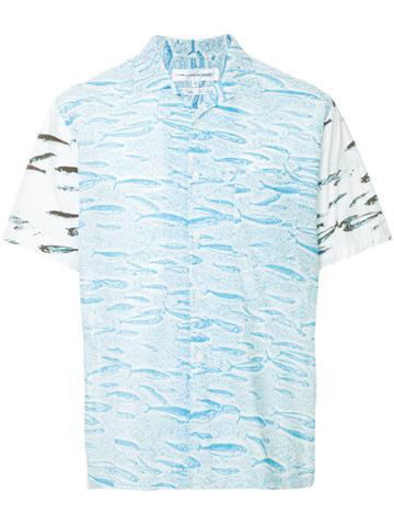 Comme Des Garçons Vintage Fish Print Shortsleeved Shirt - White