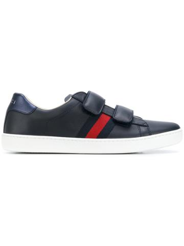 Gucci Kids Double Strap Sneakers - Blue