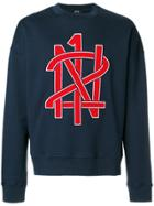 No21 Logo Print Sweatshirt - Blue