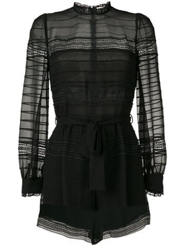 Zimmermann Embellished Playsuit - Black