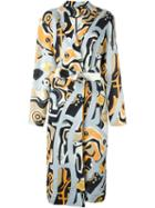 Msgm Printed Belted Coat