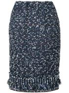 Coohem Tweed Pencil Skirt - Blue