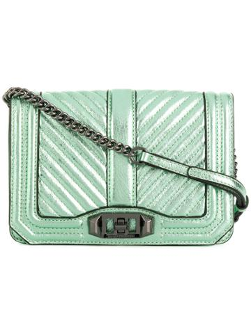 Rebecca Minkoff Quilted Foldover Crossbody Bag - Green