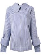Delada Striped Blouse - Blue