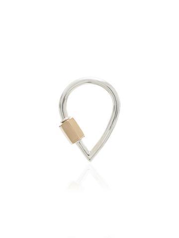 Marla Aaron Teardrop Lock Charm - Metallic