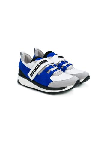 Dsquared2 Kids Velcro Sneakers - Blue