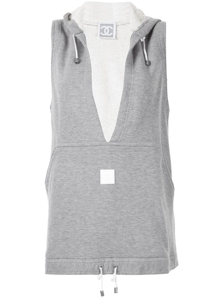 Chanel Pre-owned Sport Line Sleeveless Vest Top - Grey