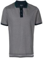 Giorgio Armani Patterned Polo Shirt - Blue